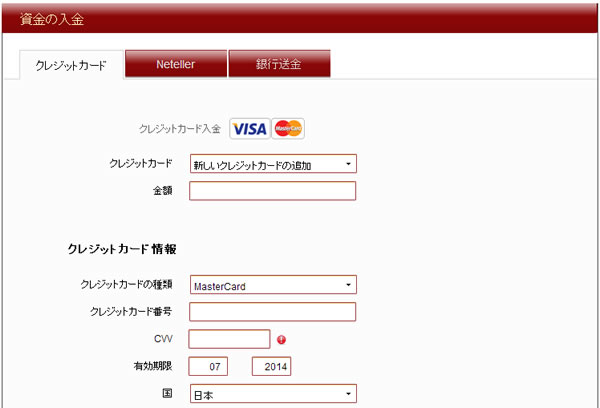 VIPオプションの入金詳細画像1