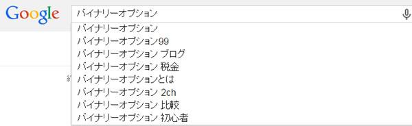 グーグル検索内容